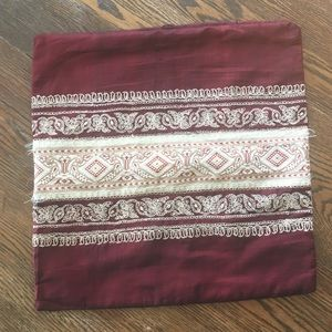 Embroidered Accent Pillowcover